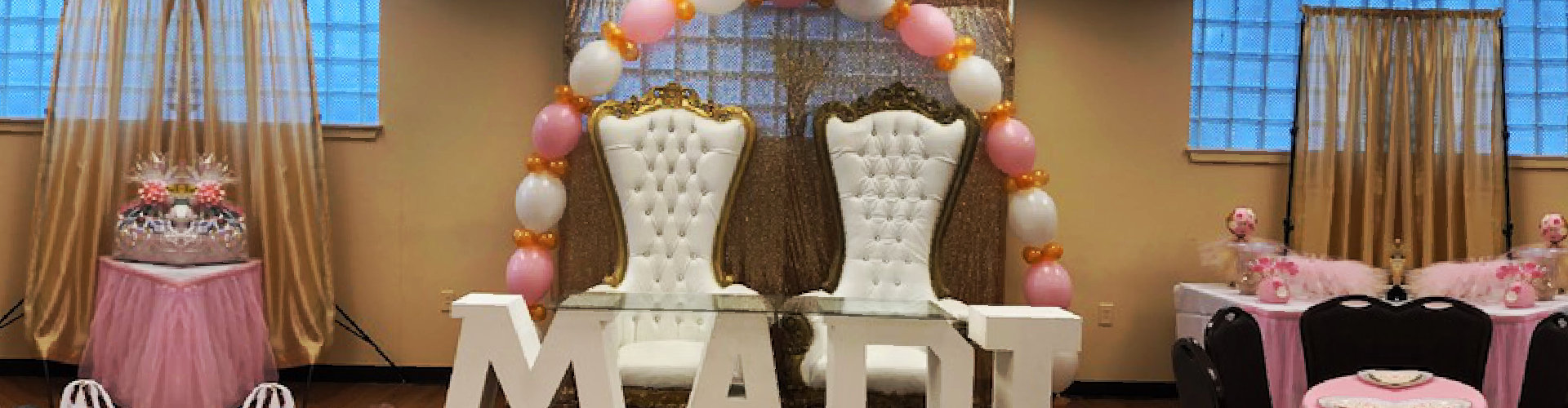 stage celebration with chair