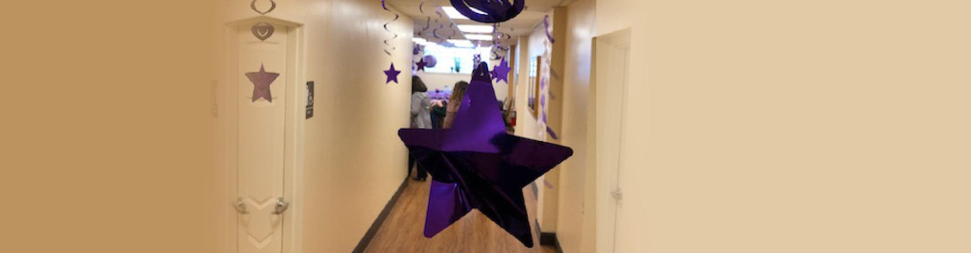 violet star hanging