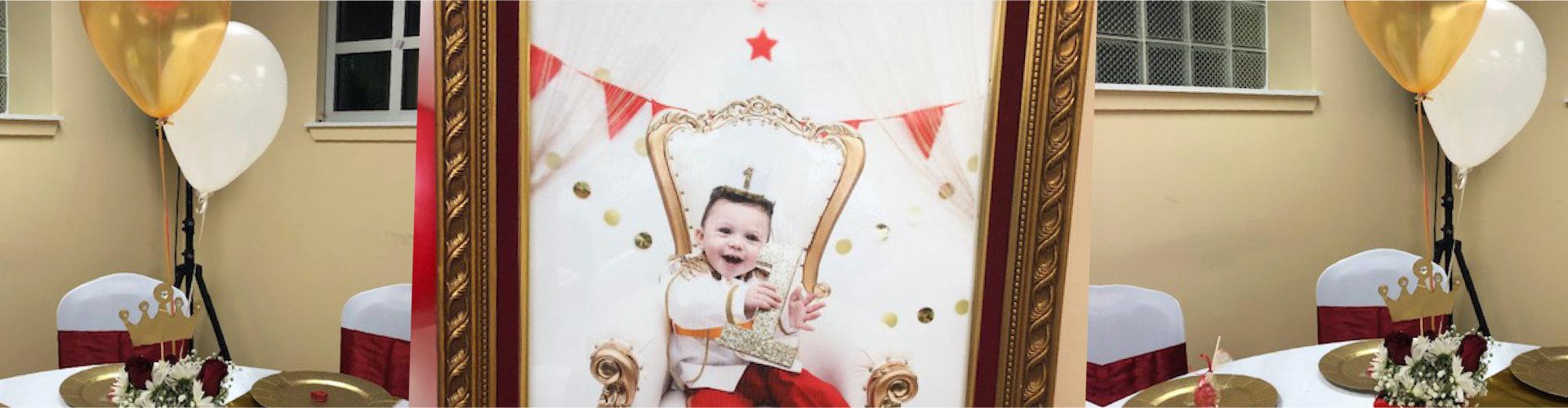 baby picture celebrating birthday